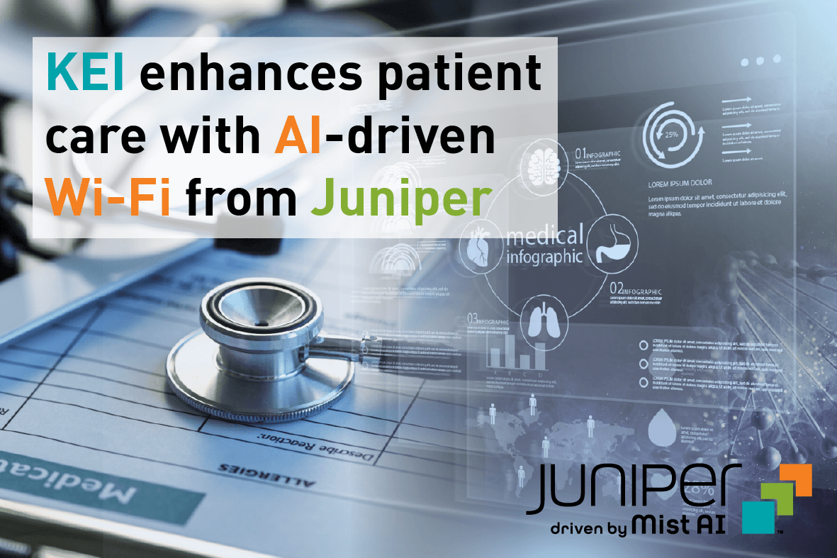 KEI-enhances-patient-care-with AI-driven Wi-Fi from Juniper